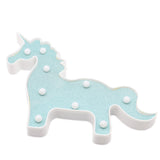 TONGER® Glitter Blue-Green Unicorn Marquee Light