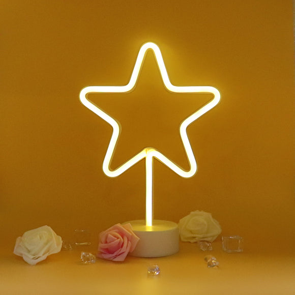 TONGER® Warm White Star Table LED Neon Light