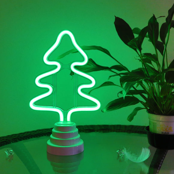 TONGER® Christmas Tree Table/Wall LED Neon Light