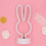 TONGER® Pink Rabbit Table LED Neon Light