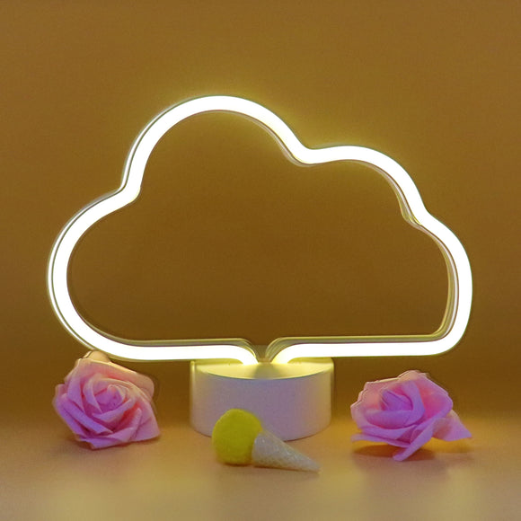 TONGER® Warm White Cloud Table LED Neon Light