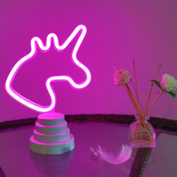 TONGER® Unicorn Table/Wall LED Neon Light
