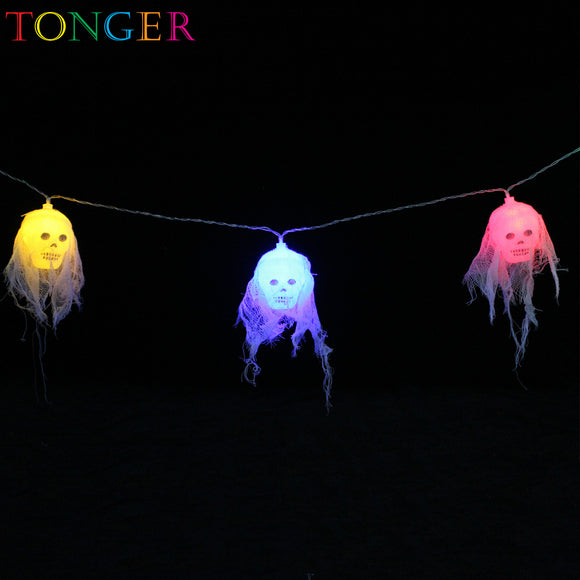 TONGER® Ghost Head Plastic String Lights