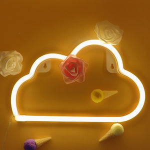 TONGER® Warm White Cloud Wall Neon Light Sign