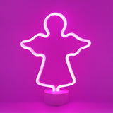 TONGER® Pink Angle Table LED Neon Light