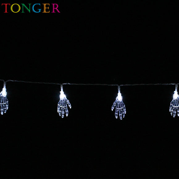 TONGER® Ghost hand Plastic String Lights