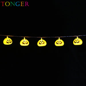 TONGER® Pumpkin Plastic String Lights
