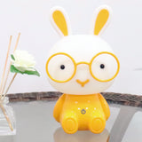 TONGER Cute Touch Switch Dimmable chargeable Kids Cartoon Bunny Table Light