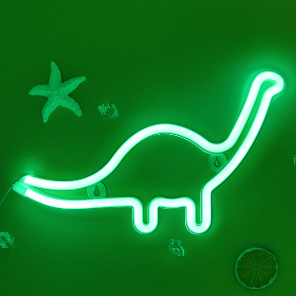 TONGER® Green Dinosaur Wall LED Neon Light Sign