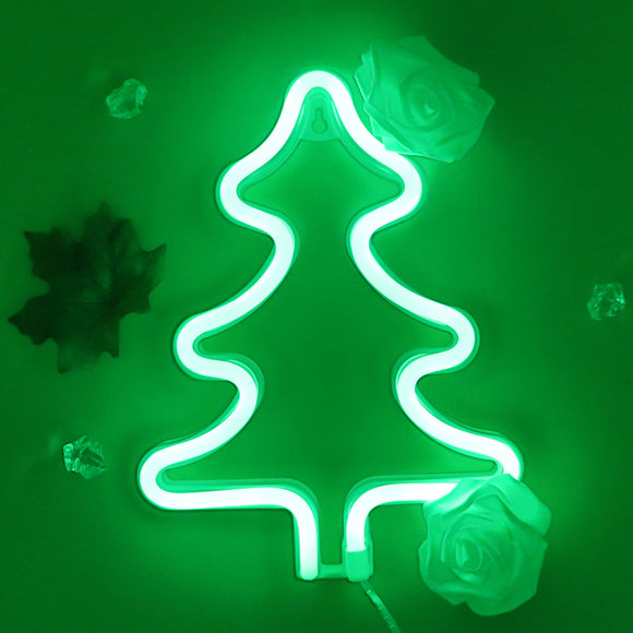 TONGER® Green Christmas Tree Wall LED Neon Light Sign