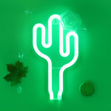 TONGER® Green Cactus Wall LED Neon Light Sign
