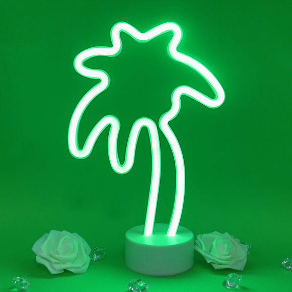 TONGER® Green Coconut Tree Table LED Neon Light