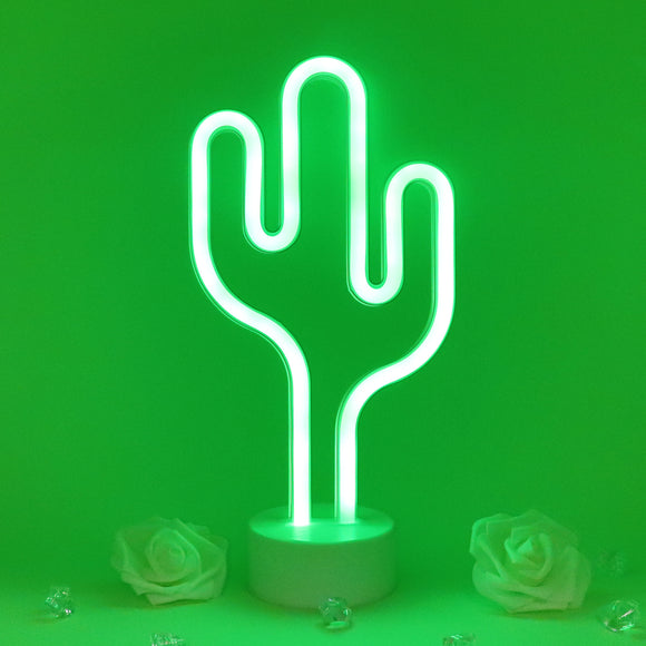 TONGER® Green Cactus Table LED Neon Light