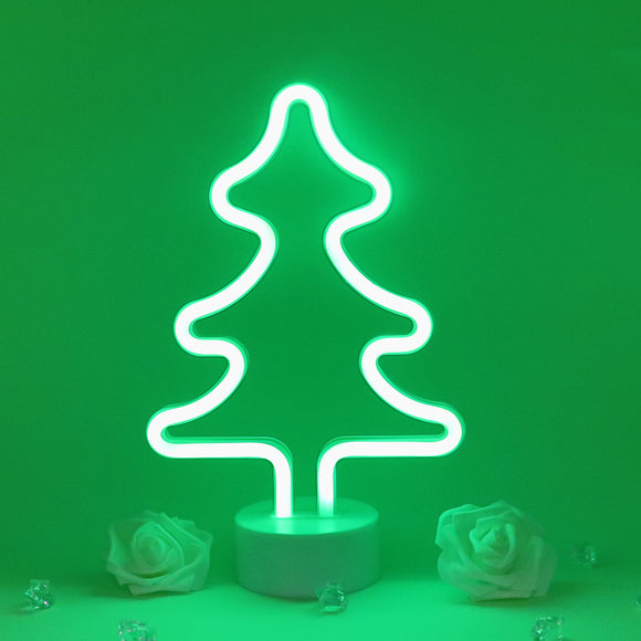 TONGER® Green Christmas Tree Table LED Neon Light