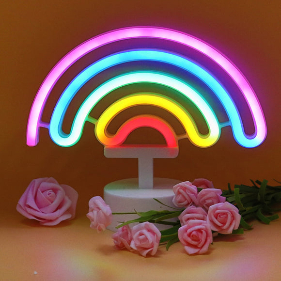 TONGER® Colorful Rainbow Table LED neon light