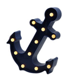 TONGER® Navy Blue Anchor LED Marquee Light