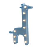 TONGER® Blue Giraffe LED Marquee Light