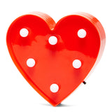 TONGER® Red Mini Heart Marquee Light