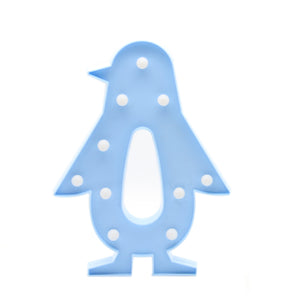 TONGER® Blue Penguin LED Marquee Light