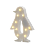 TONGER® White Penguin LED Marquee Light