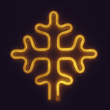 TONGER® Warm White Snowflake Wall LED neon light
