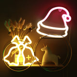 TONGER® XMAS Hat Wall LED neon light