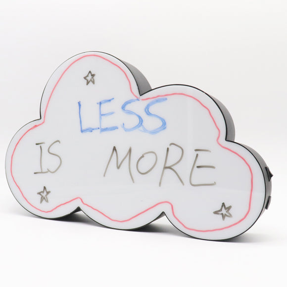 TONGER® Black Cloud Writable Lightbox