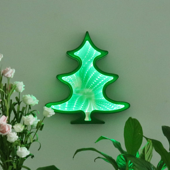 TONGER® Christmas Tree LED Infinity Mirror Lamp