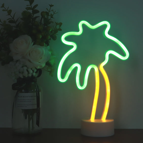 TONGER® Coconut Tree Table LED Neon Light