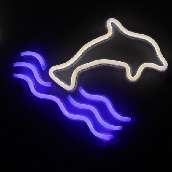TONGER® Dolphin wall LED neon sign