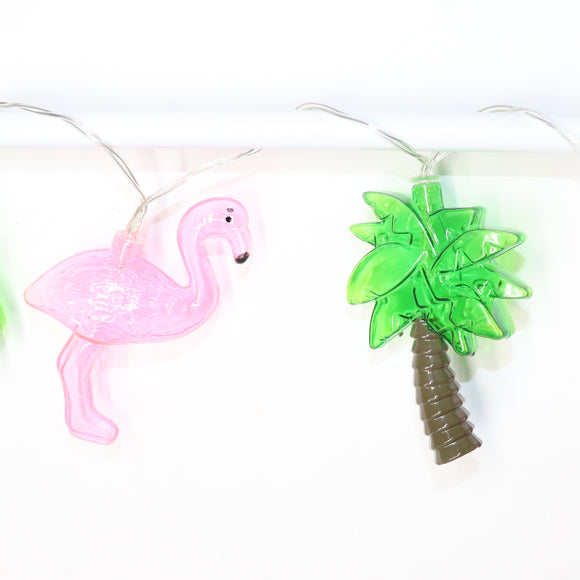 TONGER® Flamingo & Coconut Tree LED String Light