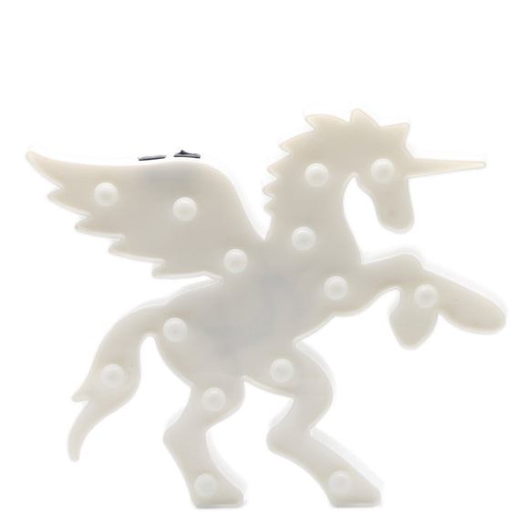TONGER® White Fly Unicorn LED Marquee Light