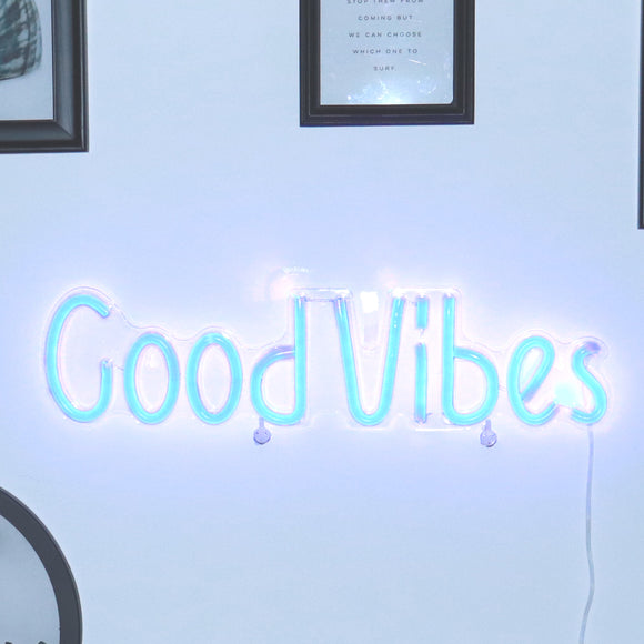 TONGER® Good Vibes wall LED neon sign