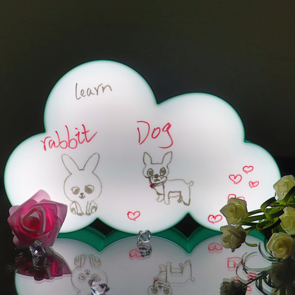 TONGER® Green Cloud Writable Lightbox