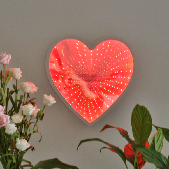 TONGER® Heart LED Infinity Mirror Lamp