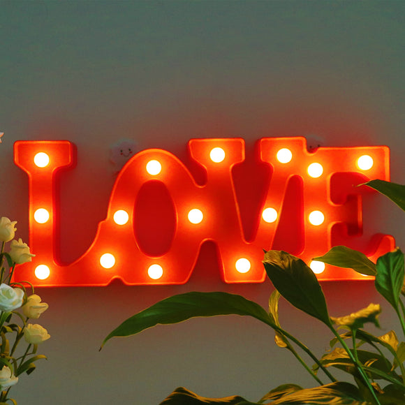 TONGER® Red LOVE Marquee Light