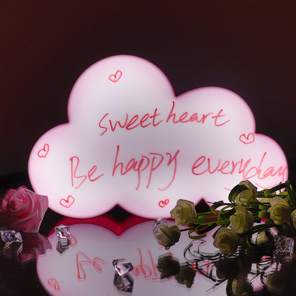 TONGER® Pink Cloud Writable Lightbox
