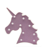 TONGER® Pink Glitter Unicorn Head Modeling Light