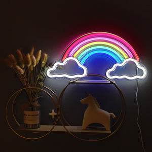 TONGER® Rainbow with Cloud wall LED neon sign