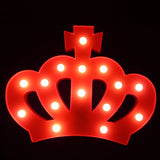 TONGER® Rose Crown LED Marquee Light