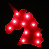TONGER® Rose Unicorn Head LED Marquee Light