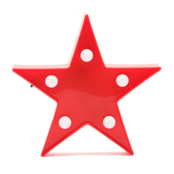 TONGER® Red Mini Star Marquee Light