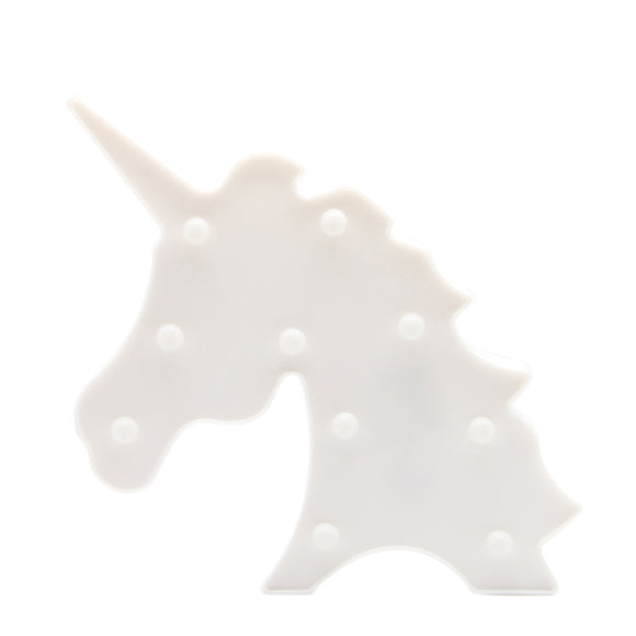 TONGER® White Unicorn Head LED Marquee Light