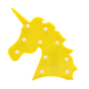 TONGER® Yellow Unicorn Head LED Marquee Light