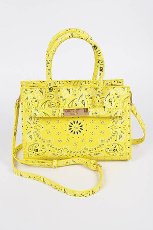 Medium Yellow Bandana Bag