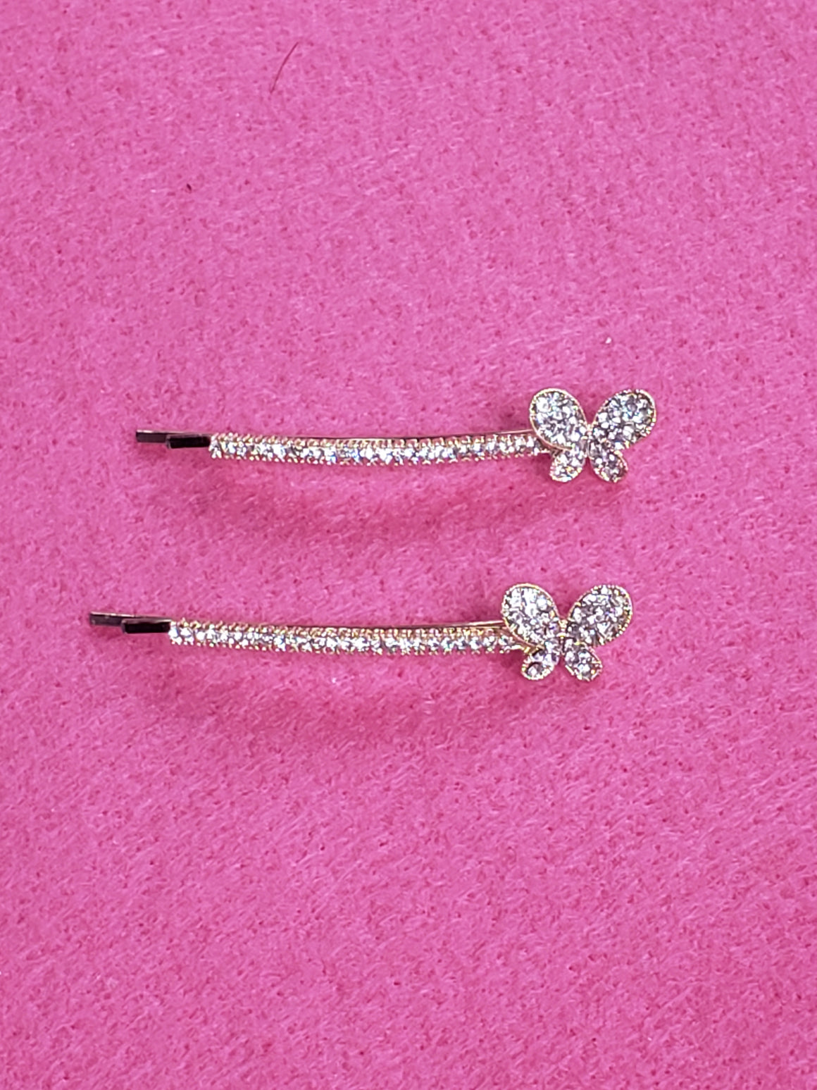 Butterfly Rhinestone Bobby Pin set