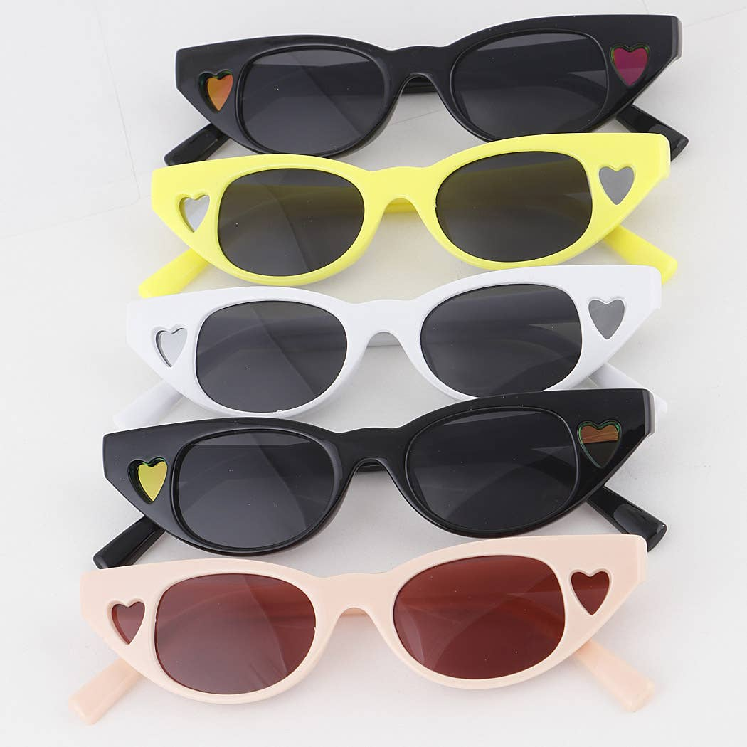 Heart Cut Out Sunglasses