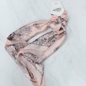 Baby Pink Scrunchie Scarves