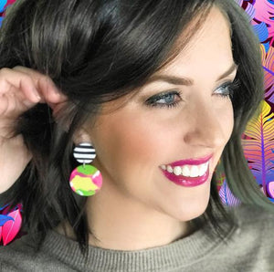 Spring Abstract Earrings