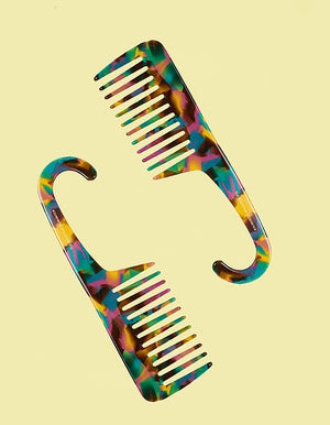Wide Tooth Multicolored Comb